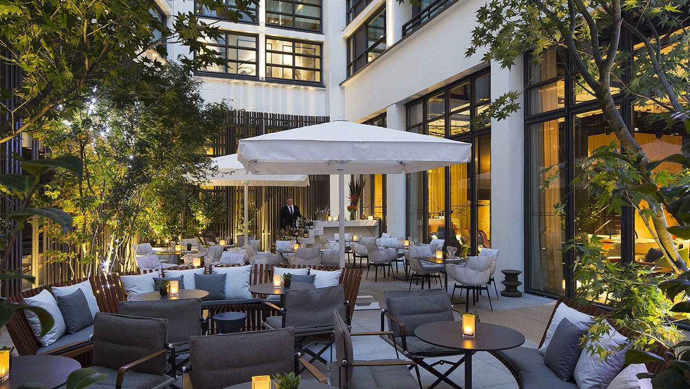Terrace And Lounge Bar At Le Cinq Codet