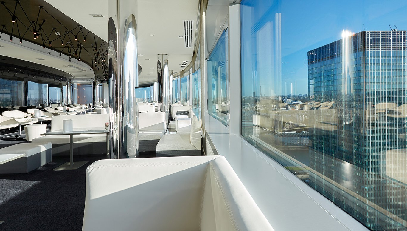 Le miroir et le skyline lounge et bar jean philippe nuel for Restaurant miroir paris